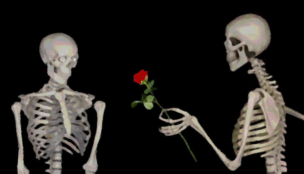 Liebe - Skelette - pelzblog